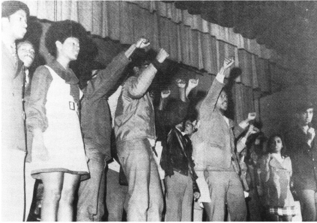 African American students at the University of Mississippirally for a Black Studies department