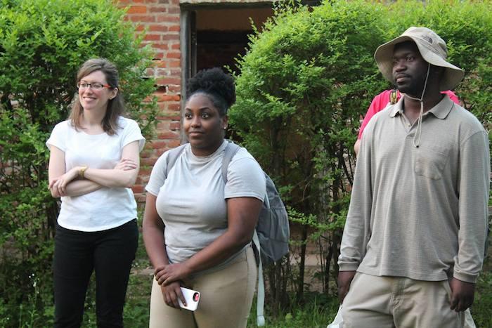 Faculty and students at Rowan Oak.